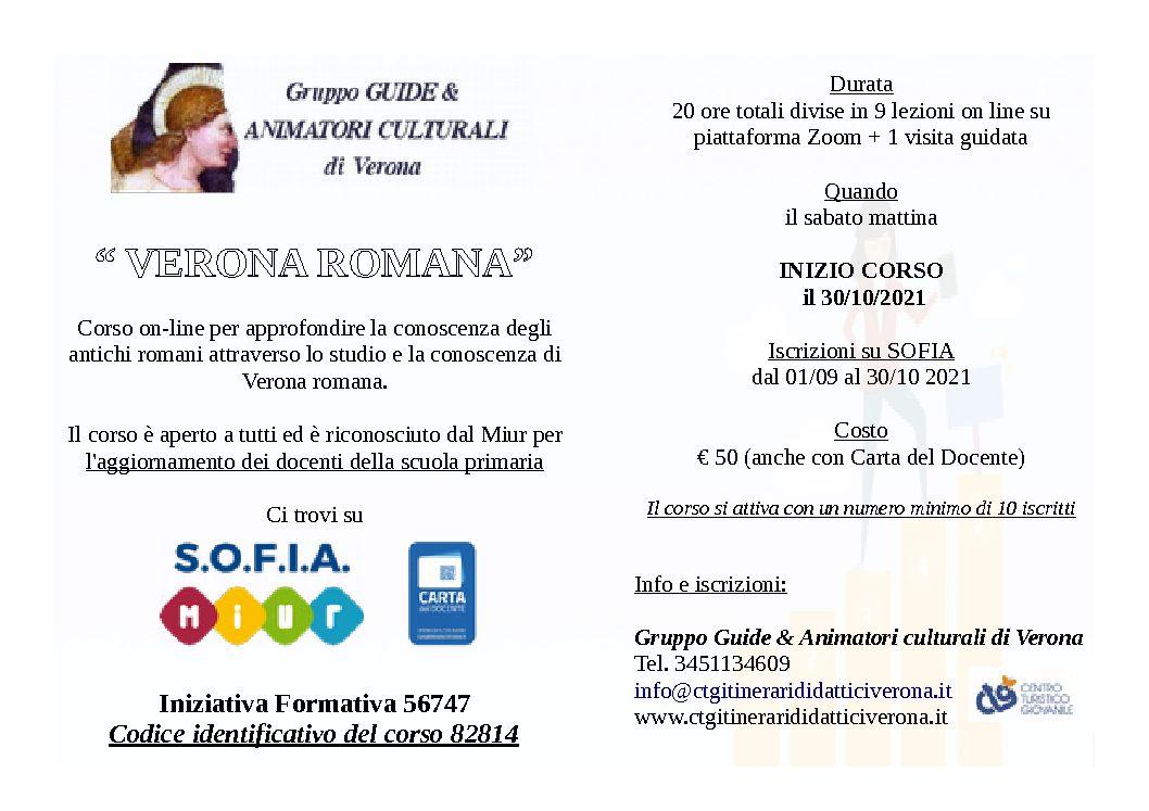 MIUR 2021/22 Corso di formazione insegnanti – VERONA ROMANA