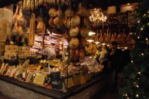 Una traboccante bottega del Mercato Medievale